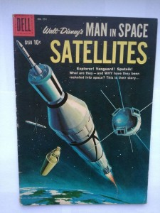 Komiks Dell Man is Space Satellites #954 1958