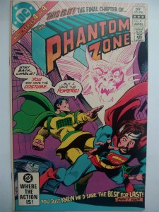3 x Komiks Phantom Zone #1 #2 #4 1982