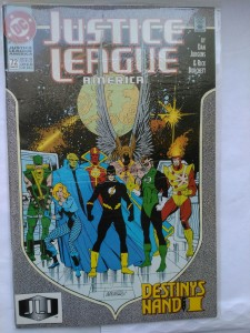 4 x Komiks Justice League of America Destiny's hand #72-75  1993